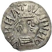 ¼ siliqua Au nom d'Anastasius I, 491-518 & Theoderic, 475-526 (Sirmium; S horizontal avec monogramme inversé) – avers