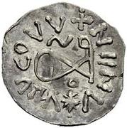 ¼ siliqua Au nom d'Anastasius I, 491-518 & Theoderic, 475-526 (Sirmium; S horizontal avec monogramme inversé) – revers