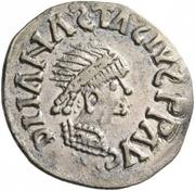 ¼ siliqua Au nom d'Anastasius I, 491-518 & Theoderic, 475-526 (Sirmium; S régulière avec buste incliné) – avers