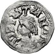 ¼ siliqua Au nom d'Anastasius I, 491-518 & Theoderic, 475-526 (Sirmium; S régulière avec buste face à gauche) – avers