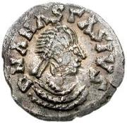 ¼ siliqua Au nom d'Anastasius I, 491-518 & Theoderic, 475-526 (Sirmium; S régulière avec buste roulé) – avers