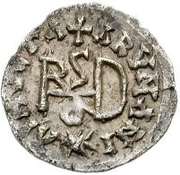 ¼ siliqua Au nom d'Anastasius I, 491-518 & Theoderic, 475-526 (Sirmium; S régulière avec buste roulé) – revers