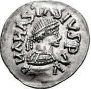 ¼ siliqua Au nom d'Anastasius I, 491-518 & Theoderic, 475-526 (Sirmium; S régulière avec buste plat) – avers
