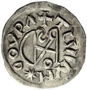 ¼ siliqua Au nom d'Anastasius I, 491-518 & Theoderic, 475-526 (Sirmium; S rétrograde avec monogramme inversé) – revers