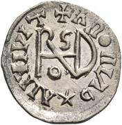 ¼ siliqua Au nom d'Anastasius I, 491-518 & Theoderic, 475-526 (Sirmium; S régulière avec buste incliné) – revers