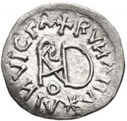 ¼ siliqua Au nom d'Anastasius I, 491-518 & Theoderic, 475-526 (Sirmium; S rétrograde avec buste plat) – revers