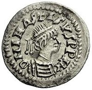 ¼ siliqua Au nom d'Anastasius I, 491-518 & Theoderic, 475-526 (Sirmium; S régulière avec buste dans l'inscription) – avers