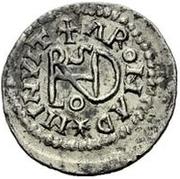 ¼ siliqua Au nom d'Anastasius I, 491-518 & Theoderic, 475-526 (Sirmium; S régulière avec buste dans l'inscription) – revers