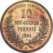 10 pfennig - Wilhelm II – revers