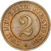 2 pfennig - Wilhelm II – revers