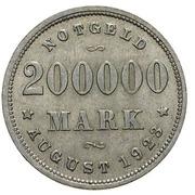 200 000 marks (Hamburg) – revers