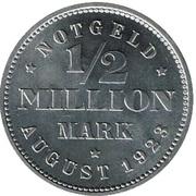 ½  million de marks (Hamburg) – revers