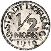 ½ mark (Düren; mineur avec devise) – avers