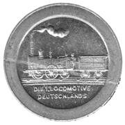 100 Pfennig (Ludwigs Railroad - Nürnberg-Fürth) – revers
