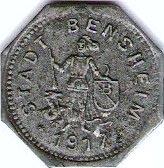 10 pfennig (Bensheim) – avers