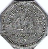 10 pfennig (Bensheim) – revers