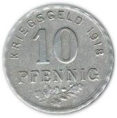 10 pfennig (Bochum) -  revers