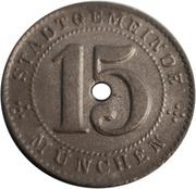 15 pfennig (München) – avers