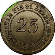 25 Pfennig (Anhalt) [Herzogtum bzw. Freistaat] – revers