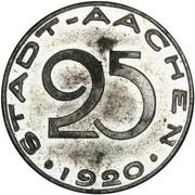 25 pfennig (Aachen) -  avers