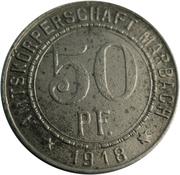 50 pfennig (Marbach; Friedrich Schiller) – avers