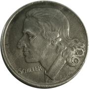 50 pfennig (Marbach; Friedrich Schiller) – revers