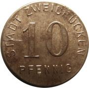10 pfennig (Zweibrücken) – avers