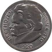 50 pfennig (Bonn; Ludwig van Beethoven) – revers