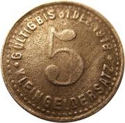 5 pfennig (Mettmann) – revers