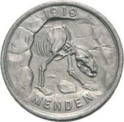 50 pfennig (Menden) – avers