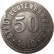 50 pfennig (Leutenberg in Thüringen) – avers