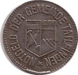 50 Pfennig (Tailfingen) [Stadt, Württemberg] – avers