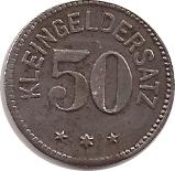 50 Pfennig (Tailfingen) [Stadt, Württemberg] – revers
