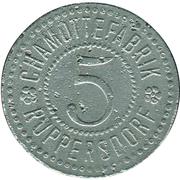 5 Pfennig (Ruppersdorf) [Private, Schlesien, Chamottefabrik] – avers