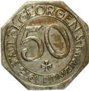 50 Pfennig (St Georgen im Schwarzwald) [Stadt, Baden] – avers