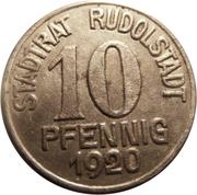 10 pfennig (Rudolstadt; Charlotte v. Schiller) – avers
