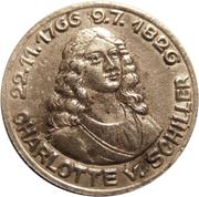10 pfennig (Rudolstadt; Charlotte v. Schiller) – revers