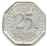 25 pfennig (Wattenscheid) – avers