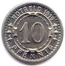 10 pfennig (Witten) – revers