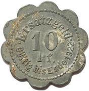 10 Pfennig (Stettin) – revers