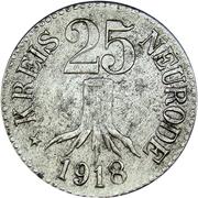 25 pfennig (Neurode) – avers