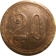 20 Pfennig (Pforzheim) [Private, Baden, Kollmar & Jourdan AG] – revers
