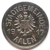 10 pfennig (Aalen) – avers