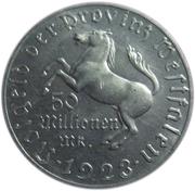 50 millions de marks (Westfalen; Freiherr vom Stein) – avers