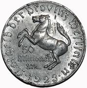 50 Millionen Mark Westfalen; Freiherr vom Stein – avers