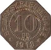 10 pfennig (Ellwangen) – revers