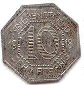 10 pfennig (Horb) – revers