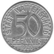 50 PFENNIG (Wattenschied) – avers