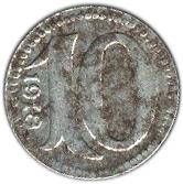 10 pfennig (Mainz Hessen) – revers