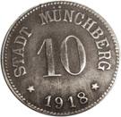 10 pfennig (Münchberg) – avers